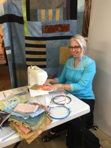 Bridget O'Flaherty sewing