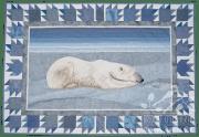 Iqaluit: Serenity thread painting by Bridget O'Flaherty