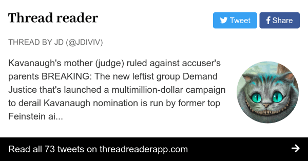 """Thread by @JDiviv: """"Kavanaugh's mother (judge) ruled ..."""