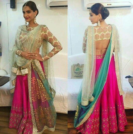Different Ways To Drape Lehnga Dupatta Threads