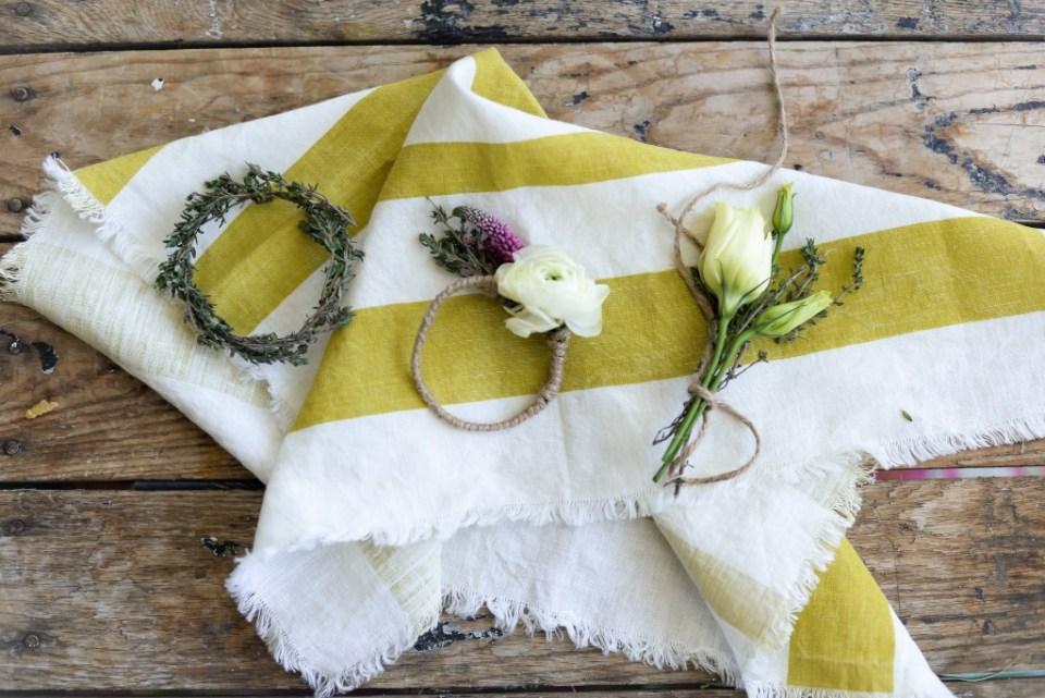 Spring DIY flower napkin Rings