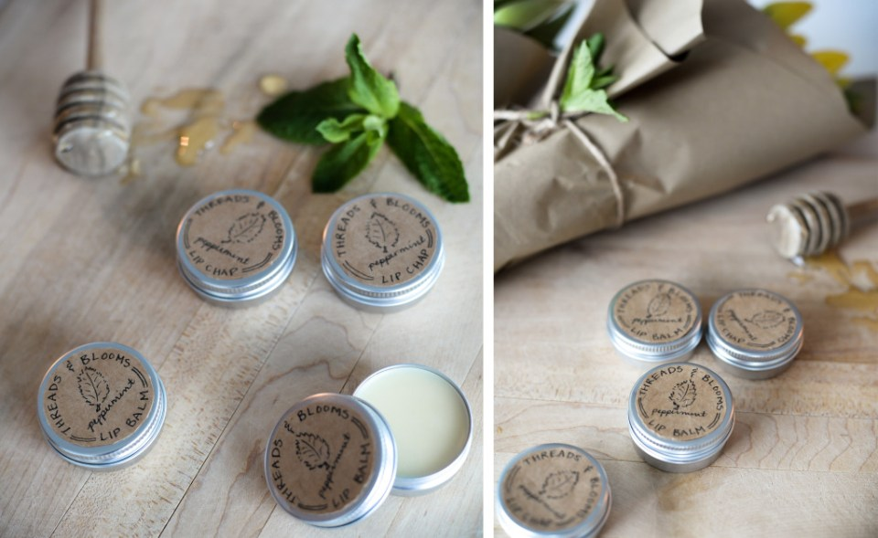 Peppermint Homemade Lip Balm using just 5 ingredients