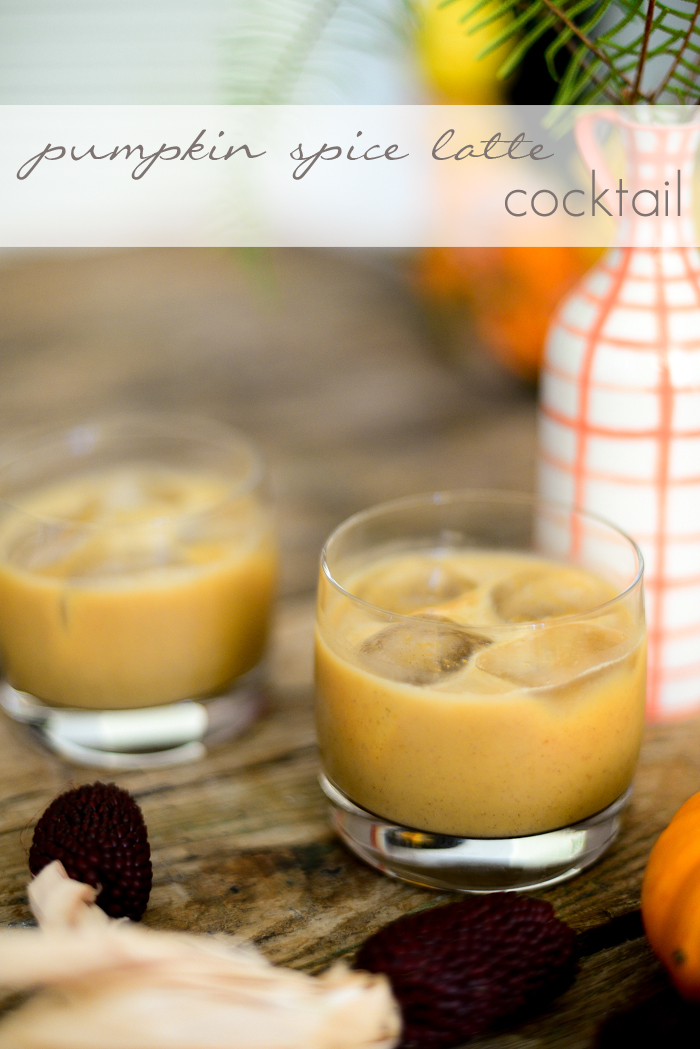 Delicious Fall Cocktails - Pumpkin Spice Latte Cocktail Recipe