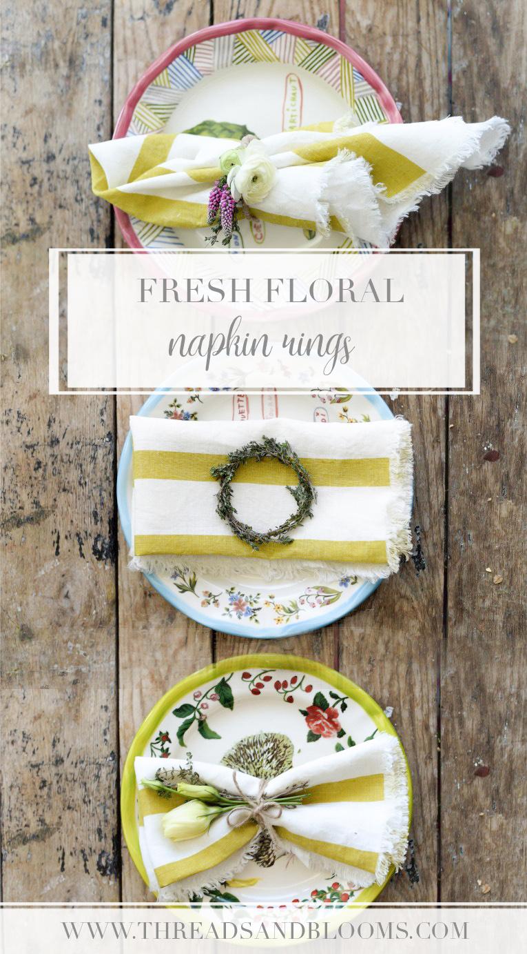 Spring Decor Ideas - Flower Napkin Rings
