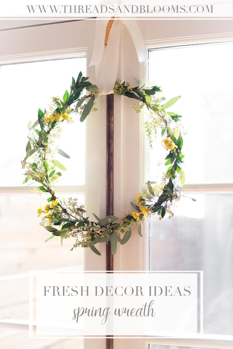 Spring Decor Ideas - Spring Wreath