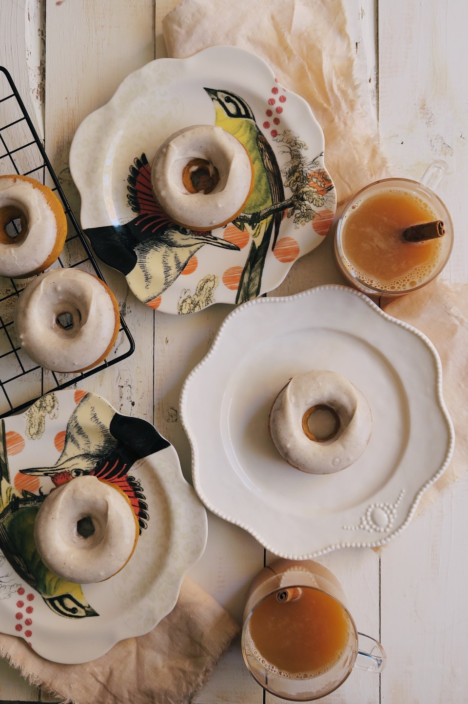 Pumpkin Spice Donut with Cinnamon Cream Glaze