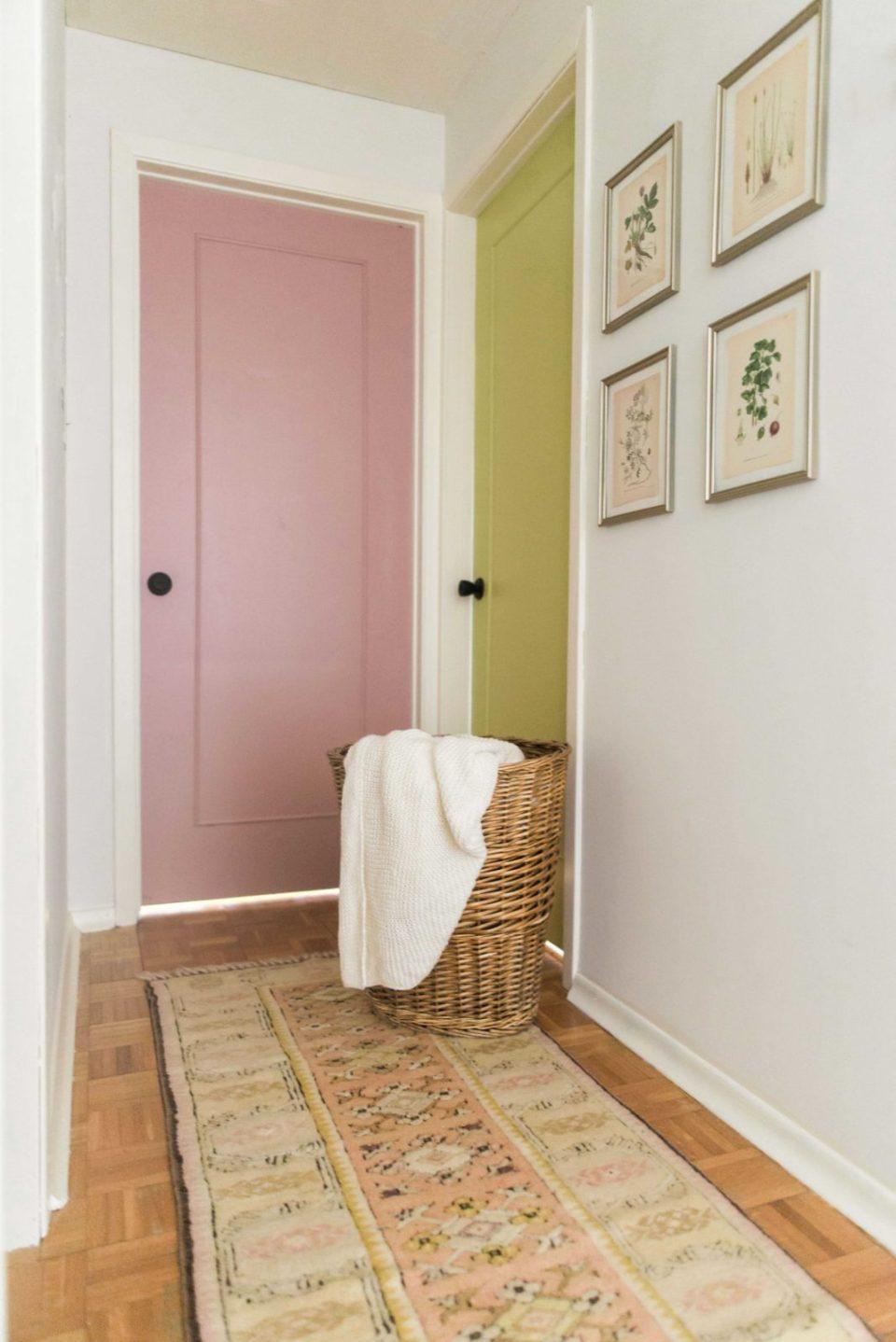 Hallway Makeover | Colored Doors | Colored Interior Doors