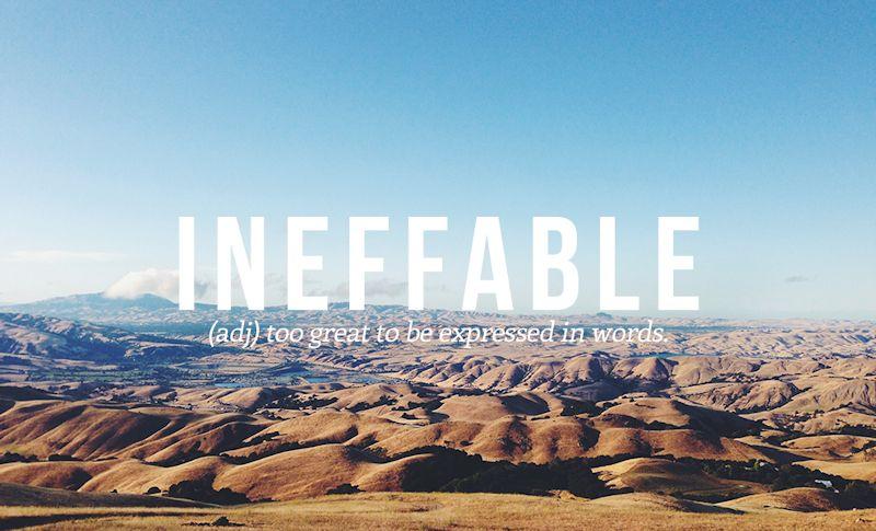 Ineffable def