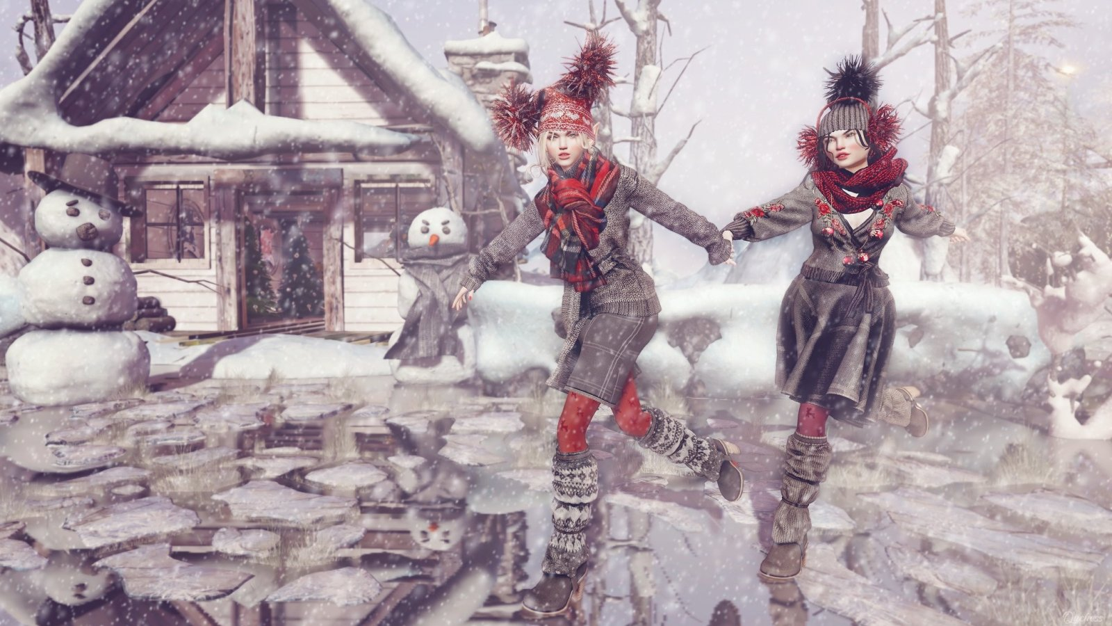 Second Life Login Page: Memories of Silent Nights and White Christmases
