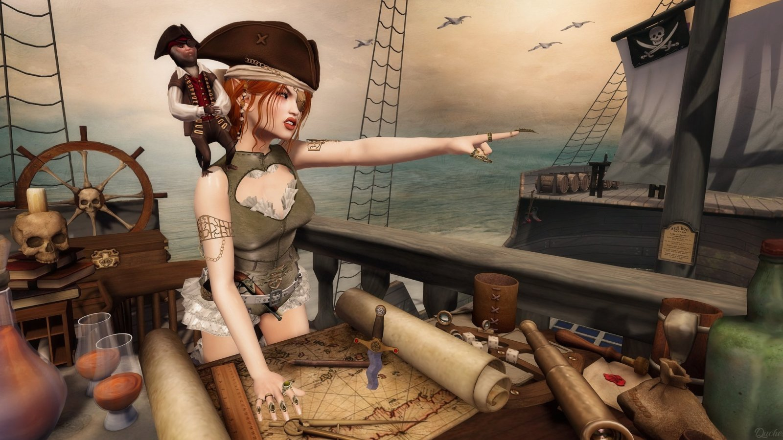 Some days she wanted to make everyone walk the plank……..