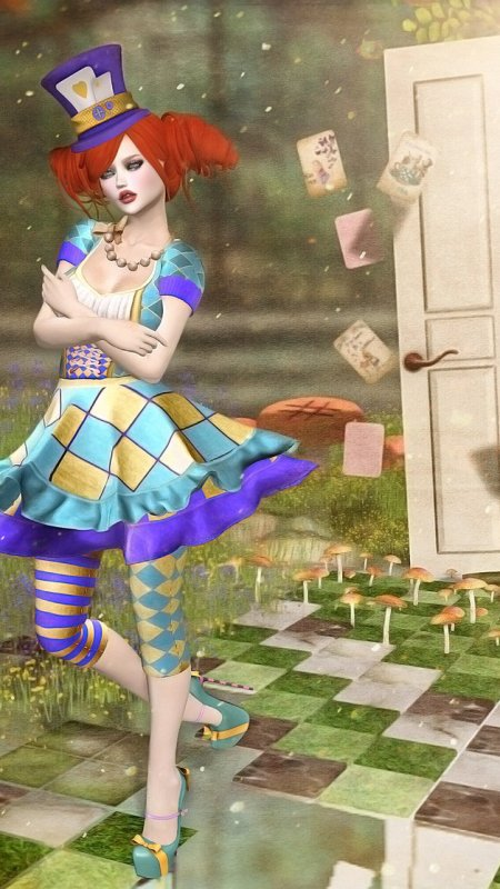 Mad Hatter & White Rabbit…. the door to nowhere