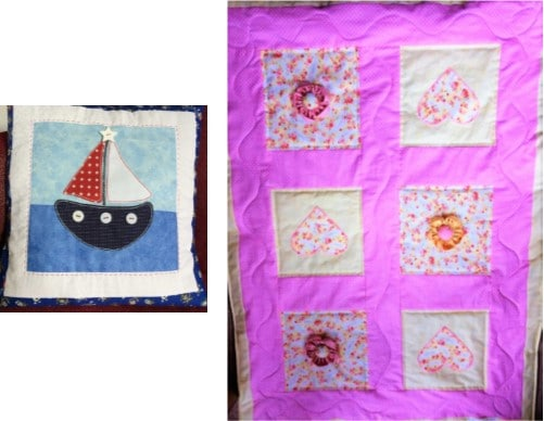 Hearts & Flowers Mini/Baby Quilt