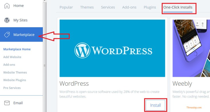 How to start a blog wordpress 1click