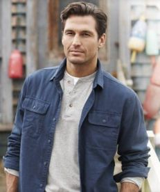 Layered Henley with shirt