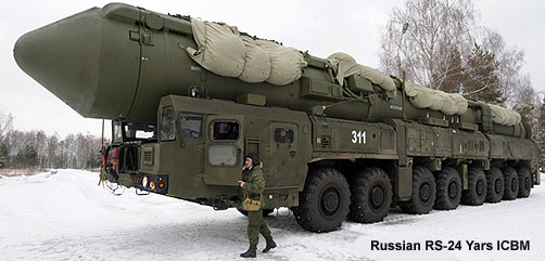 Russian RS-24 YARS ICBM - ALLOW IMAGES