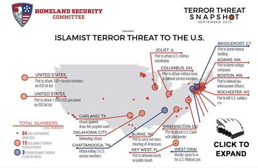Islamist Terror Threat Snapshot Map - ALLOW IMAGES