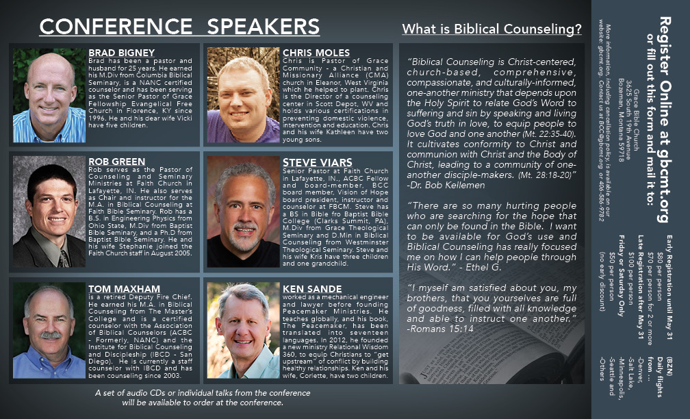 Counseling Conference Design for Custom Brochure