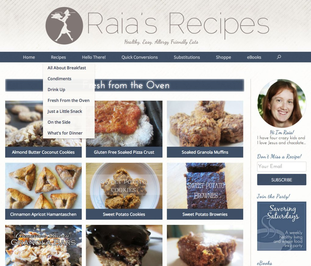 Raias-Recipes-Wordpress-Blog-Custom-Design