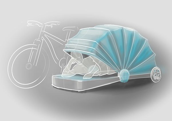 Versatile Bike Trailer Concept by Alejandra Castelao