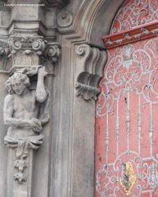 Doorway with statue Prague