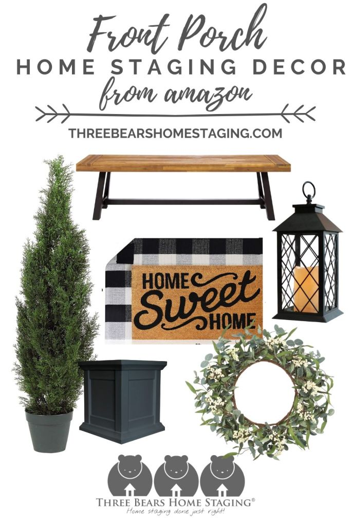 front porch home staging decor