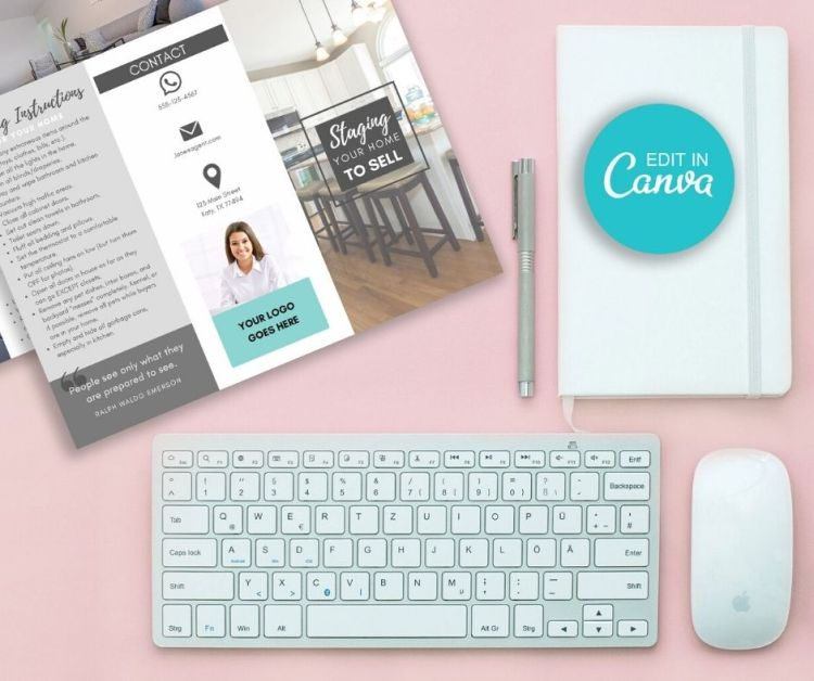 home staging canva template