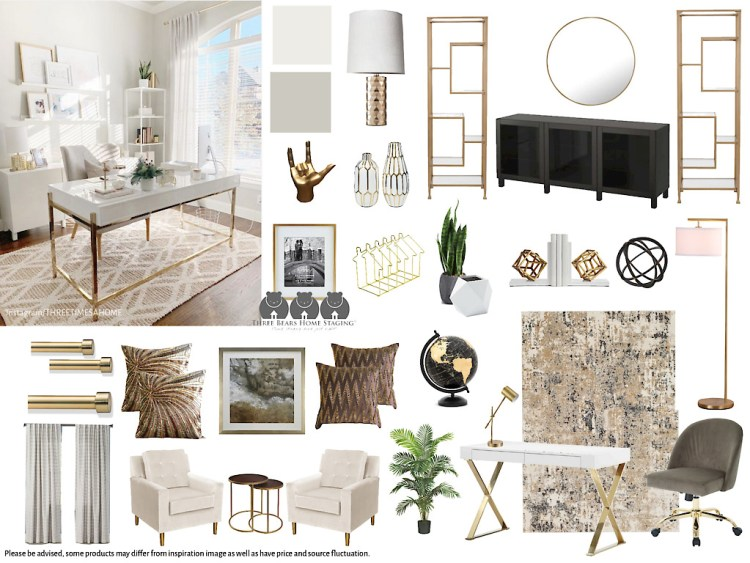 Classy, neutral home office