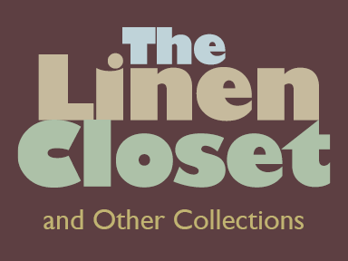 "A typographic treatment of the words ""The Linen Closet"" for a dance company brochure"