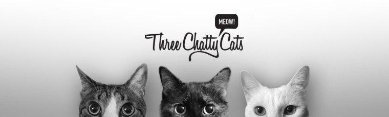 Three Chatty Cats old header