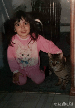 Ashley and Bug the cat