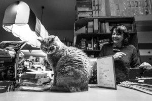 "Stationery shop cat Leo | ""C-AT WORK"" by Marianna Zampieri"