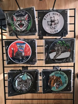 cat patches at Catfe