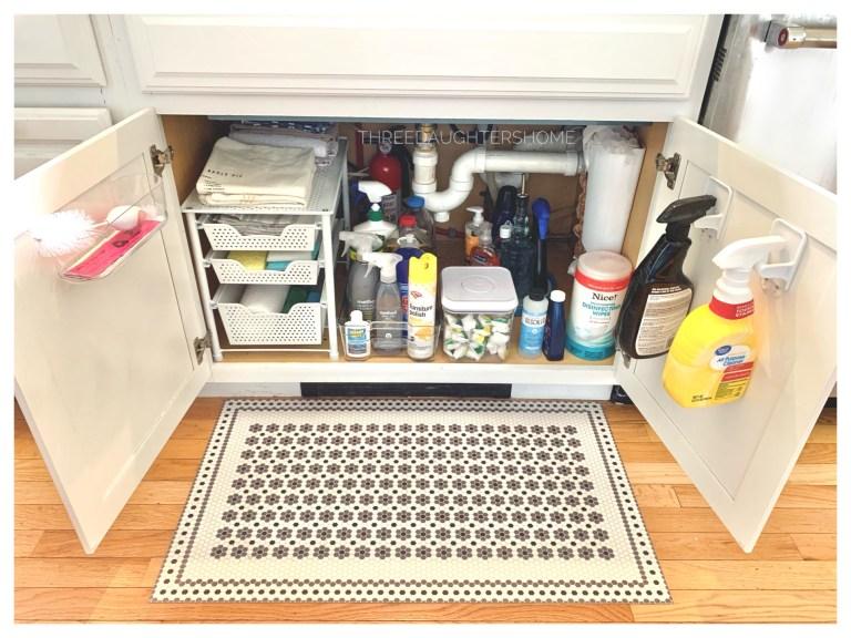 storage solutions for under the kitchen sink organization