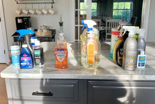 kitchen sink organization by grouping like items.