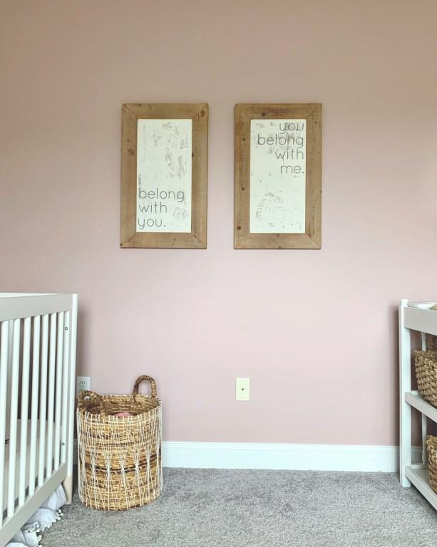 handmade wood signs for twin nursery