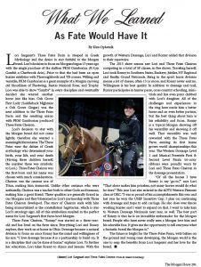 TFF Featured in The Morgan Horse Magazine