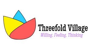 Threefold Village Logo: Willing, Feeling, Thinking