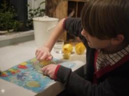 Rupert squeezing the lemon
