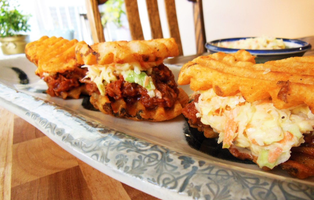 Appetizer: Pulled Pork Sliders on Lattice Fries