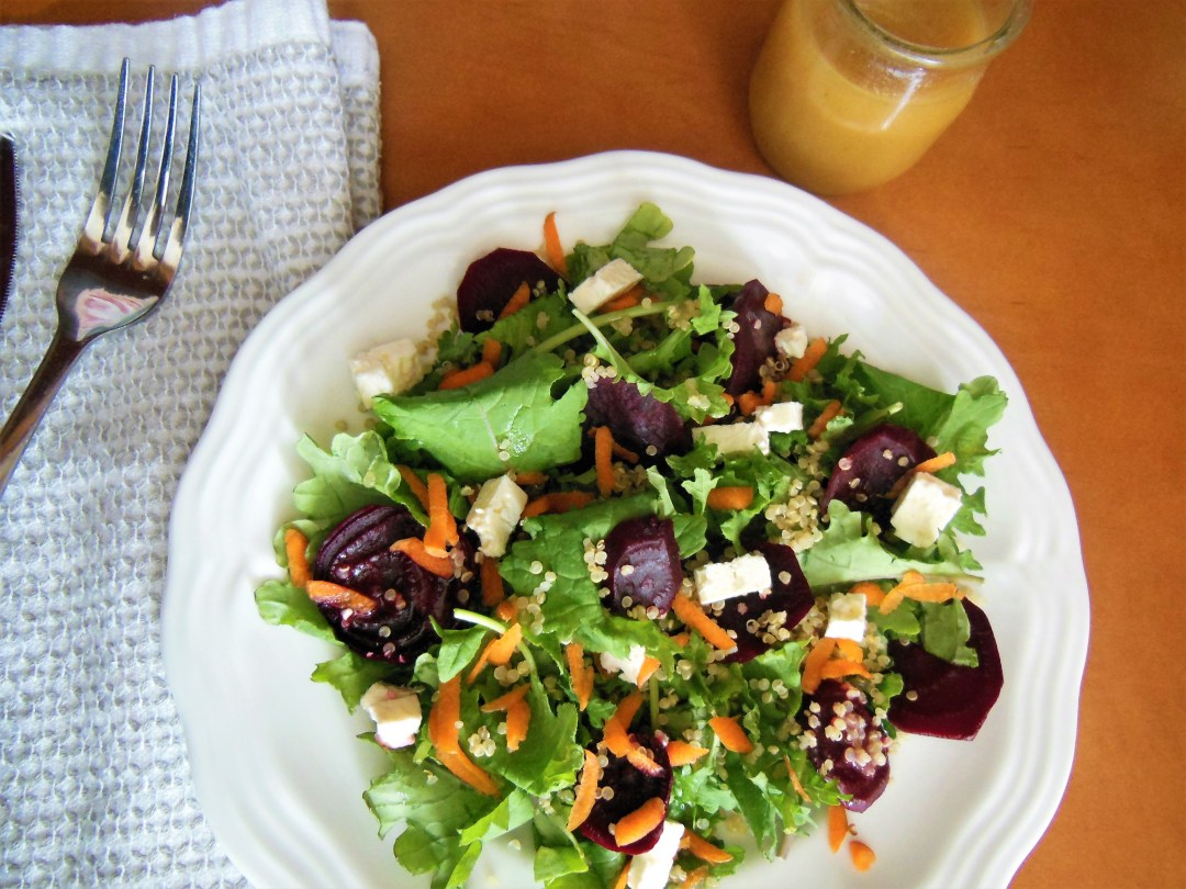 Quinoa Beet Salad with Carrot and Feta