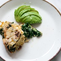 Kale and Chorizo Bread Pudding