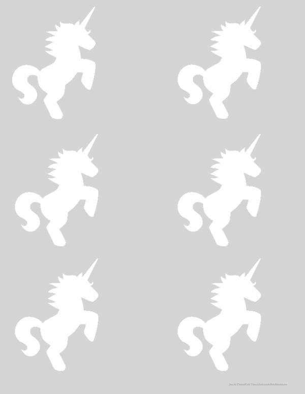 Free Printable Unicorn Head Templates