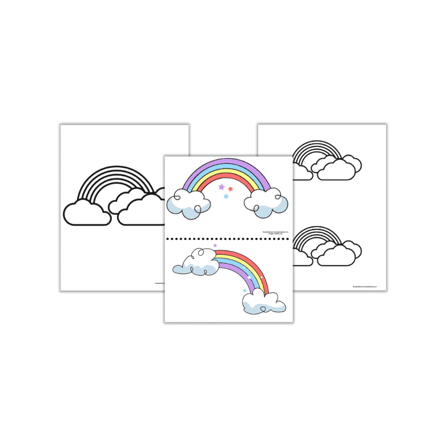 Free Rainbow Templates To Color Print