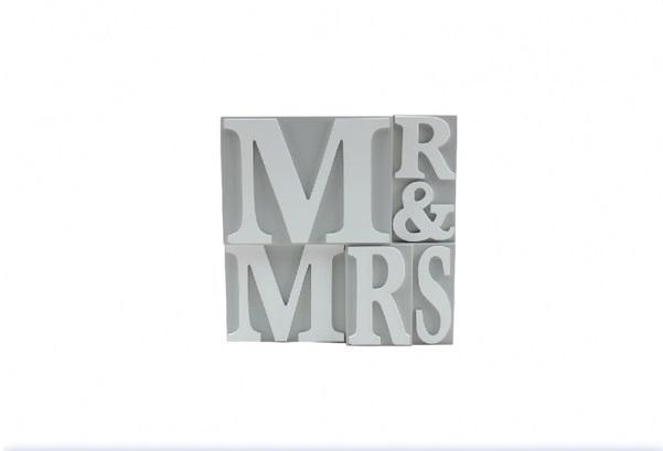 Mr & Mrs Decorative Wooden Plaque