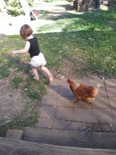 a race around the yard