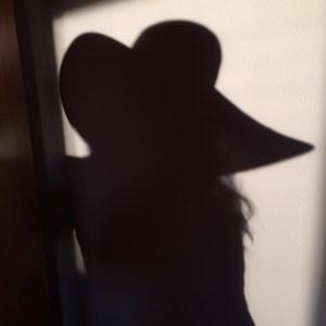 Self-portrait of shadow in hat