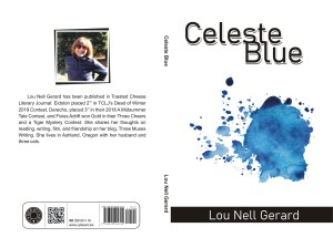 "Front and Back Cover of ""Celeste Blue"""