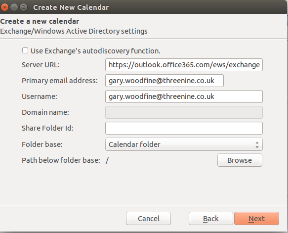 create new calendar dialog next