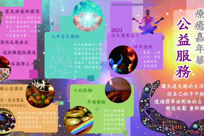 2021超前佈署!身心靈療癒嘉年華公益服務活動11/14(六)台中唯一一場