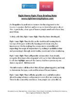 Briefing Note for RHRP (21.5.18)